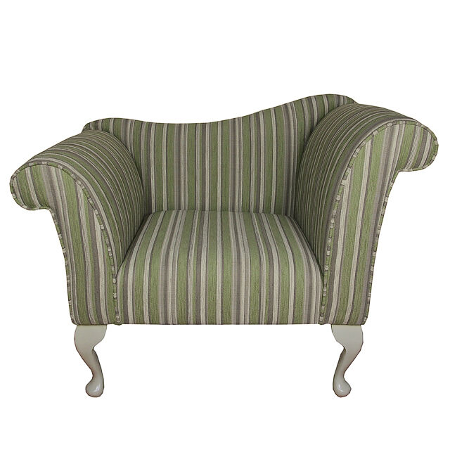 Designer chaise chair upholstered in a green diamante for Chaise diamante
