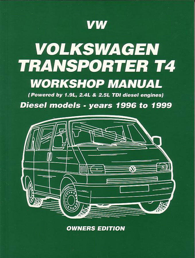 Volkswagen eurovan vw transporter t diesel shop manual