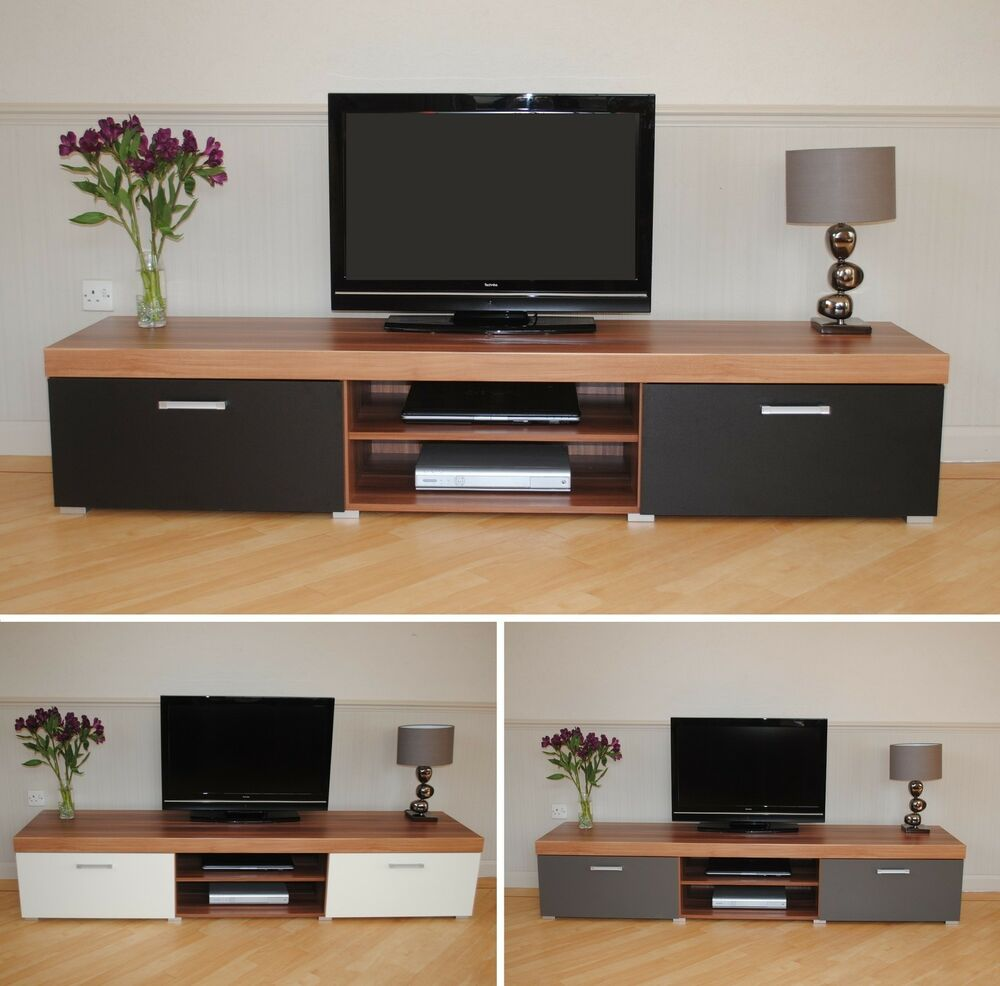 tv furniture cabinets 2 metre large 2 door tv cabinet plasma bench stand unit 27354