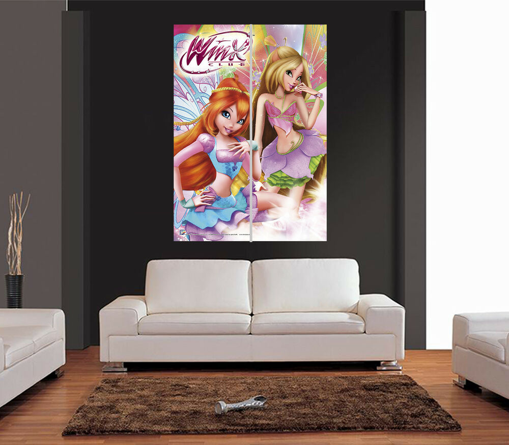 Marvel Bedroom Furniture Winx Club Fairy Giant Wall Art Print Picture Poster Ebay