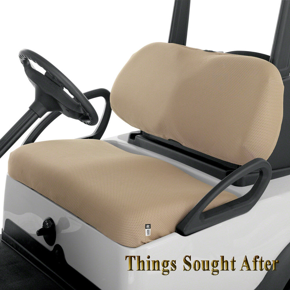 khaki diamond air mesh seat cover for e z go golf car 2 4 6 8 person ezgo ez set ebay. Black Bedroom Furniture Sets. Home Design Ideas