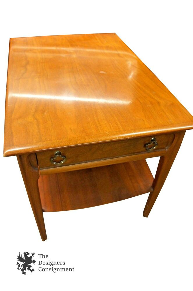 Mid Century Modern Mersman Coffee Table 1 Drawer Shelf