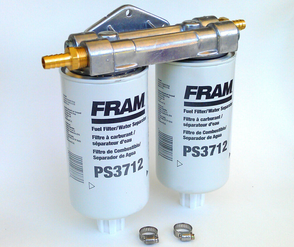 diesel fuel water separator filter wvo bio diesel dual remote mount for fram ps3712 fuel ... #6