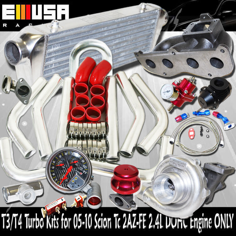 Turbo Kit Tacoma 4 0: T3/T4 Turbo Kit For 04-08 Toyota RAV4 Base Sport 2AZ-FD I4