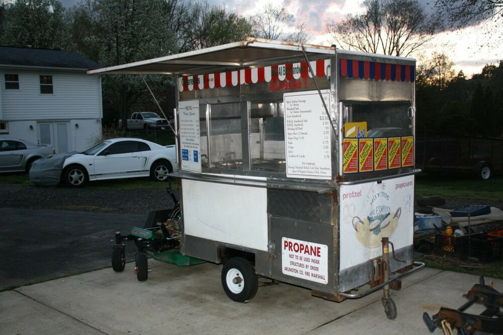 Used Hot Dog Food Trailer Cart Stand Ebay