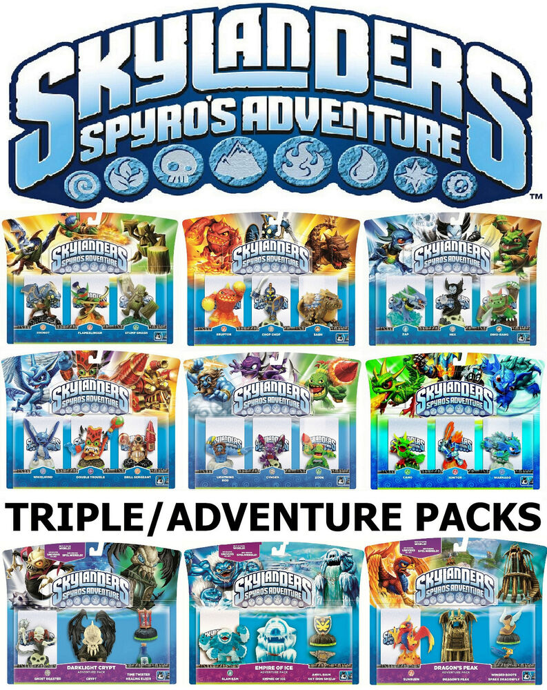 Skylanders Spyro's Adventure Triple Figures Adventure ...