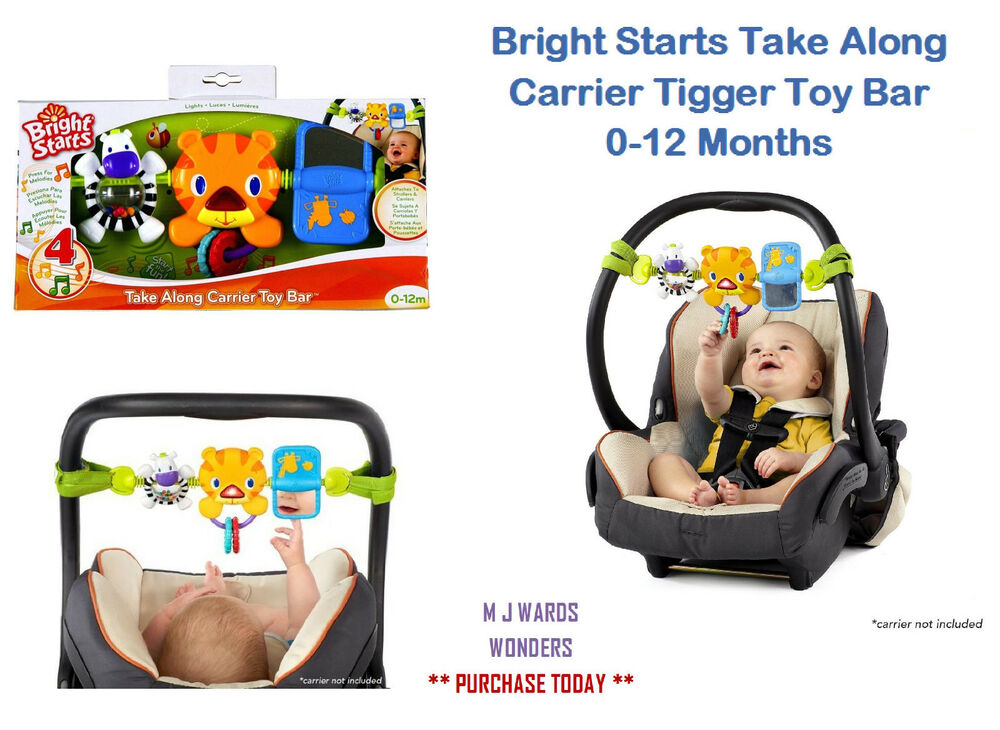 carrier toy bar. bright starts take along carrier tigger toy bar 0-12 months ** boxed | ebay