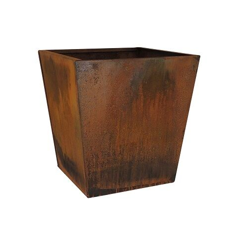 Corten steel planter square tapered pot extra large ebay Extra large pots for plants