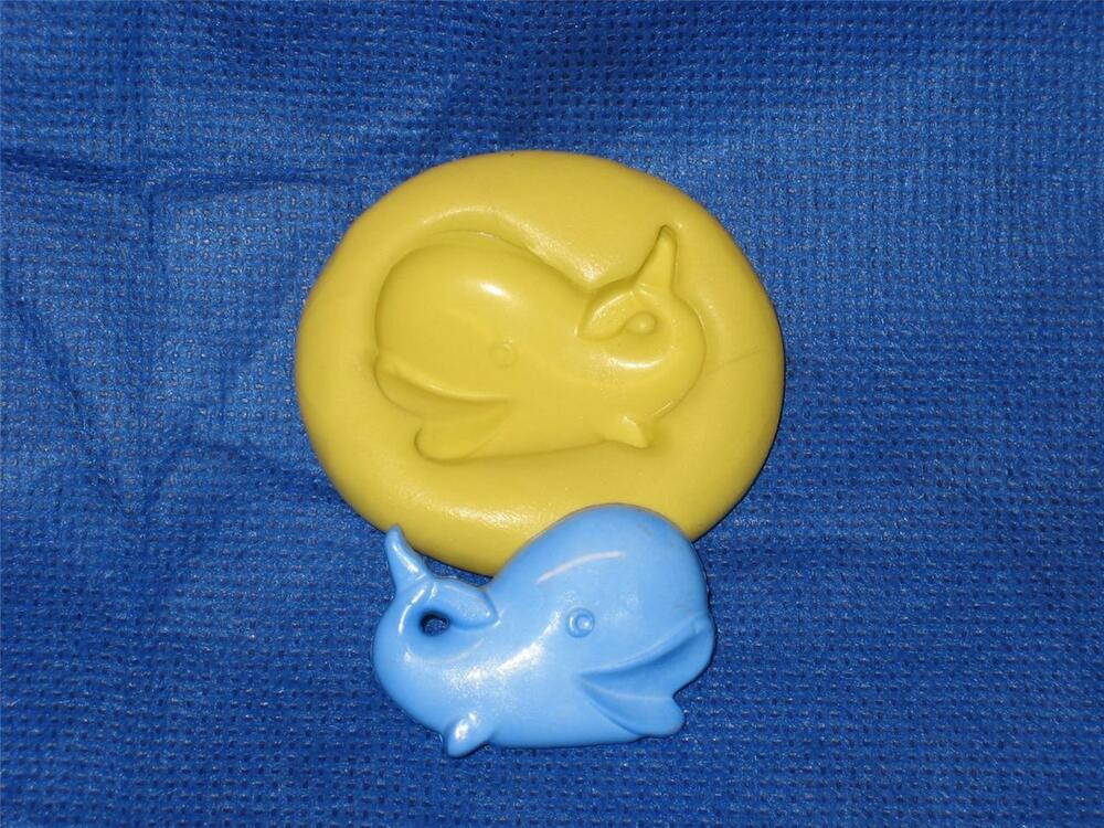 Whale fish push mold food safe flexible silicone 972 cake for Silicone fish molds