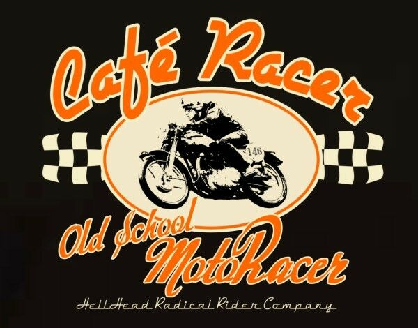 Tee Shirt Café Racer Vintage Old School Triumph Collection , Biker Rock Norton