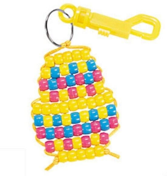 easter egg key chain craft kit for kids bead clip. Black Bedroom Furniture Sets. Home Design Ideas