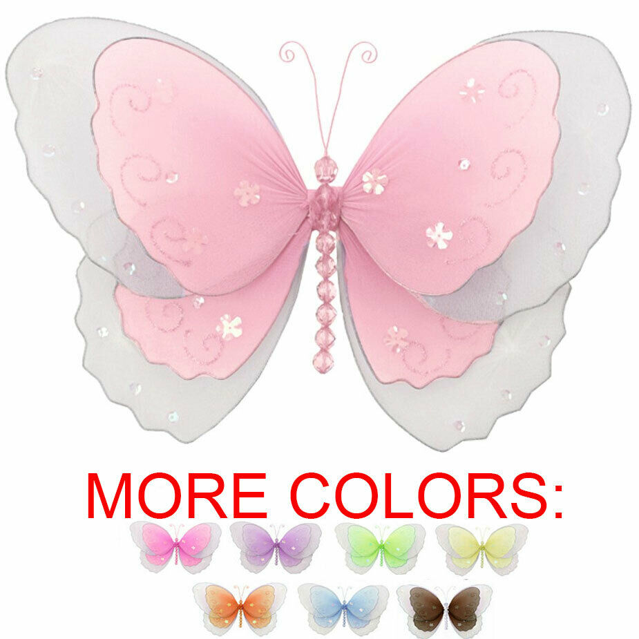 butterfly baby shower decor hanging birthday party nursery ceiling