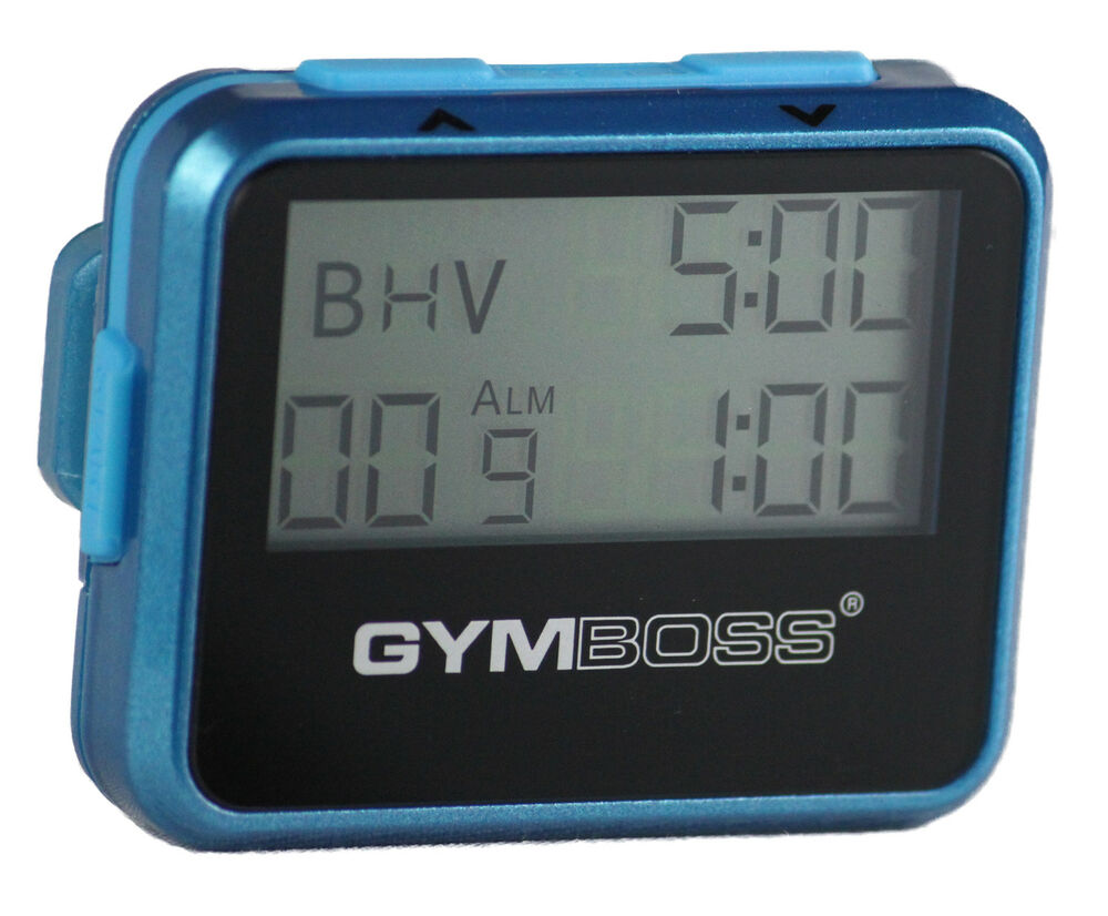 gymboss interval timer stopwatch teal blue metallic. Black Bedroom Furniture Sets. Home Design Ideas