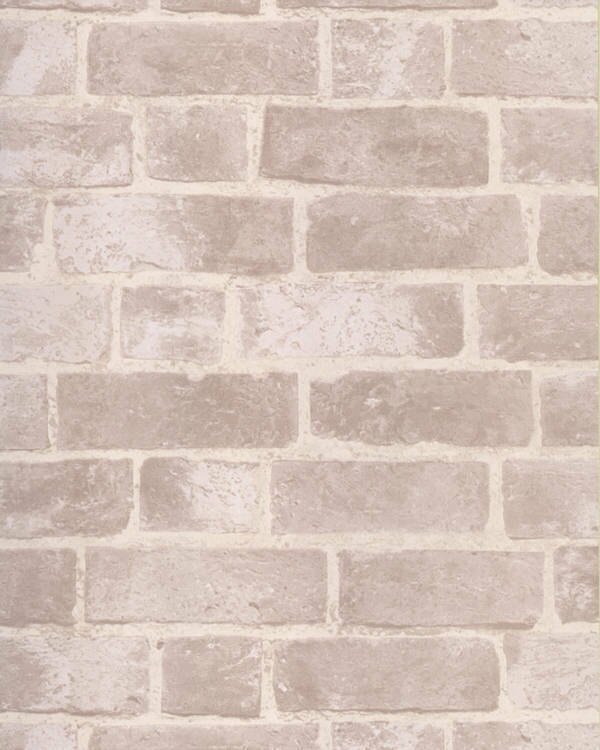 BRICK WALLPAPER Aged f White Brick with Texture HE1045