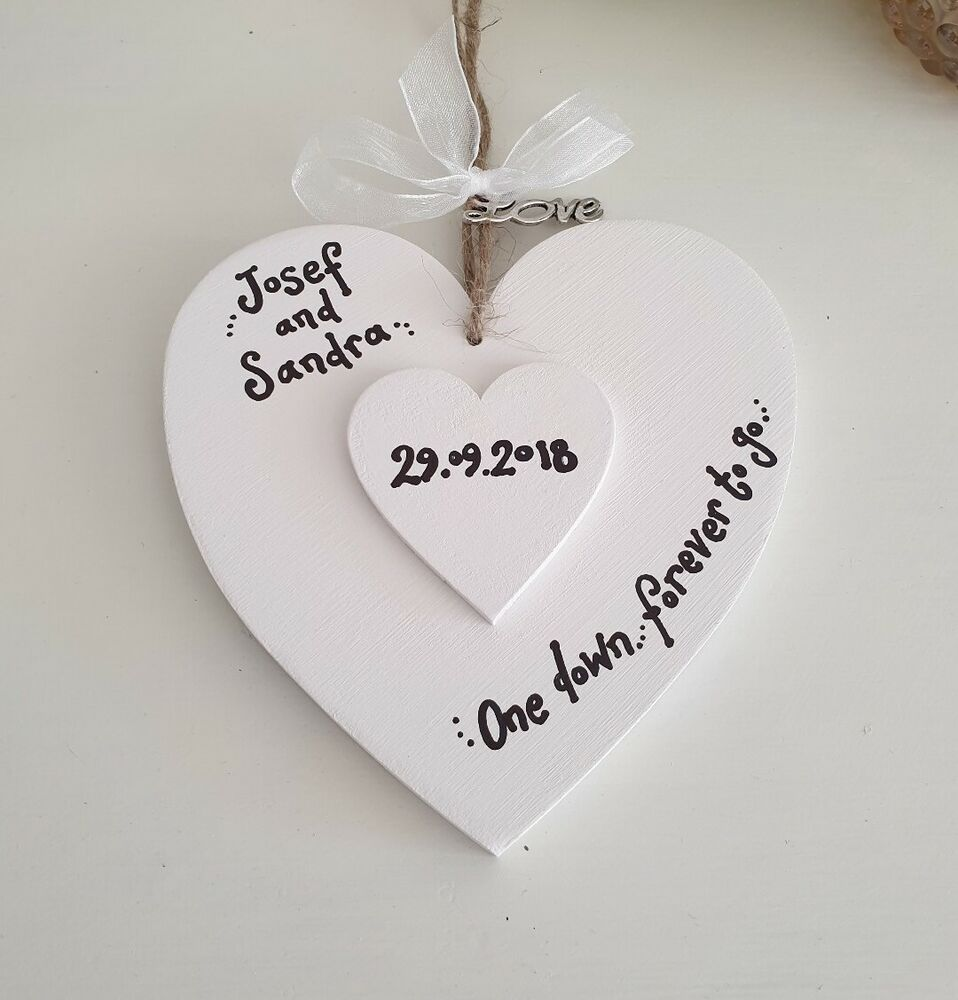 First Anniversary Gift Personalised 1st One Year Wedding