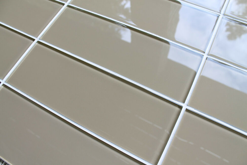 Beach brown 4 x 12 glass subway tiles for kitchen for 12 x 24 glass tile