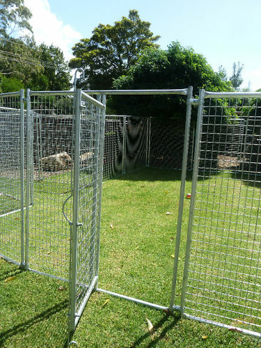 Dog enclosure dog run pet run gates only ebay for Dog run cage enclosure