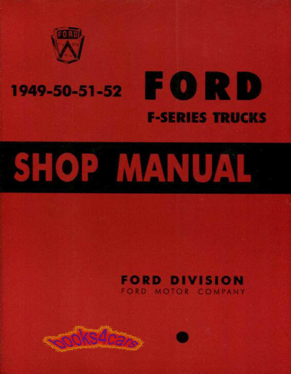 shop manual service repair ford truck book pickup f series. Black Bedroom Furniture Sets. Home Design Ideas