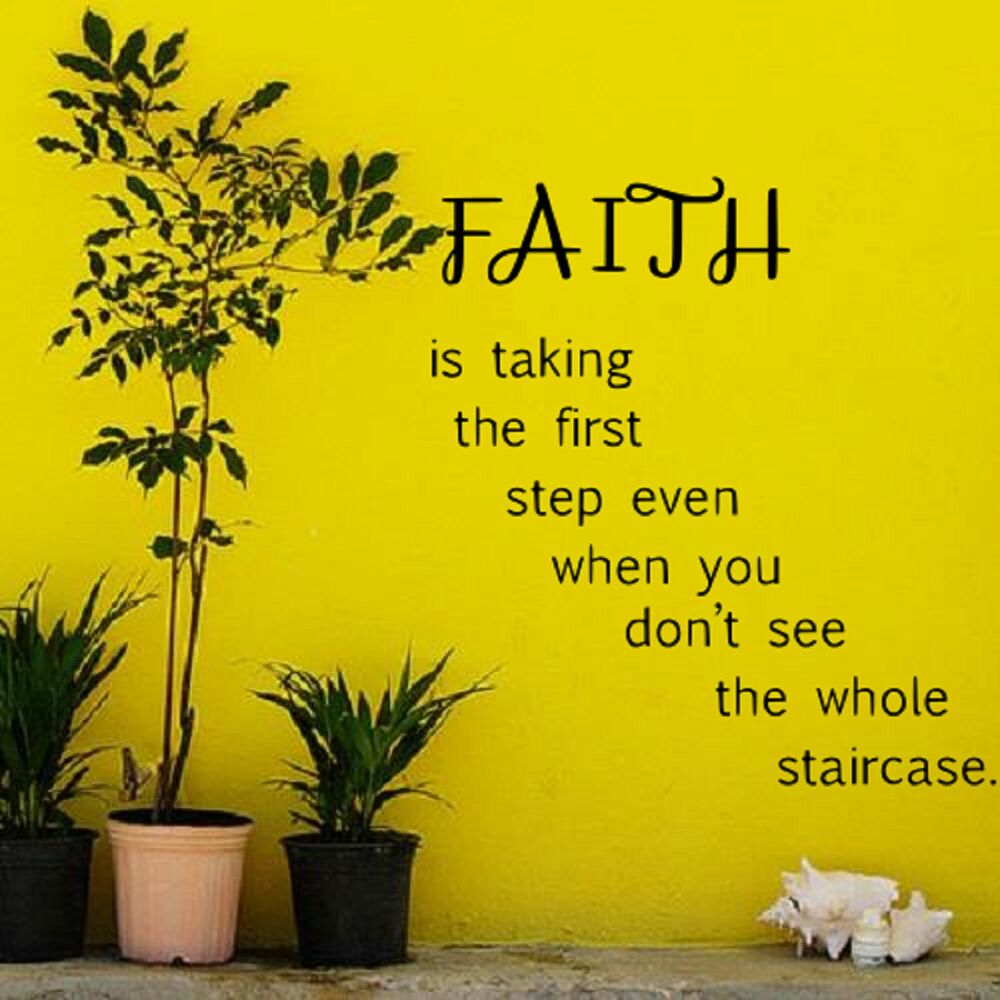 Faith is taking the first step wall art quote decal vinyl sticker ...