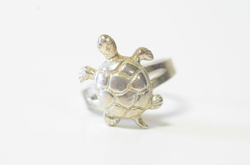 Sterling Silver Turlte Ring
