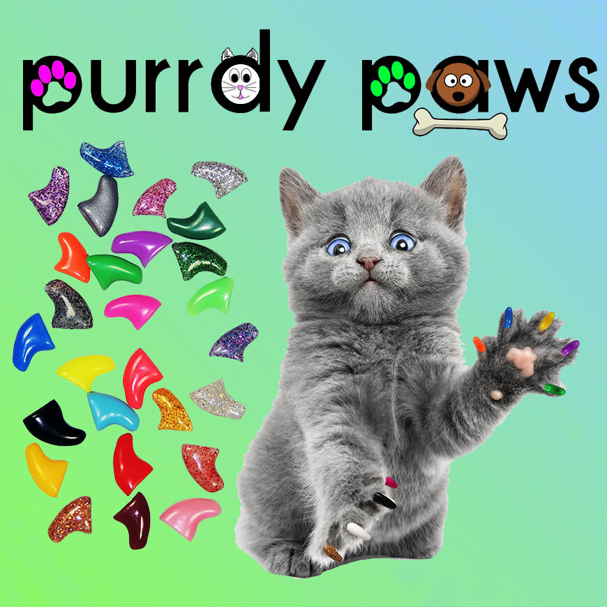 Soft Nail Caps For Cat Claws Purrdy Paws Usa Seller
