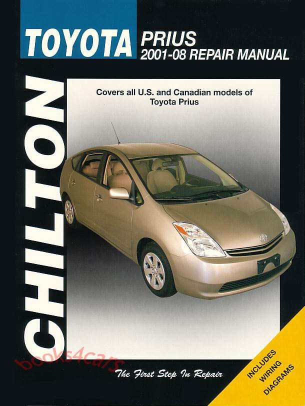 toyota prius shop manual service repair book chilton. Black Bedroom Furniture Sets. Home Design Ideas