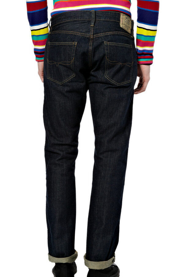 f3b1b3da8c6 Details about POLO RALPH LAUREN PRL 018 SLIM STRAIGHT RAW RINSE BLUE  SELVEDGE DENIM JEANS  185
