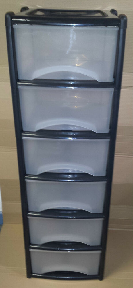 six drawer plastic storage 2