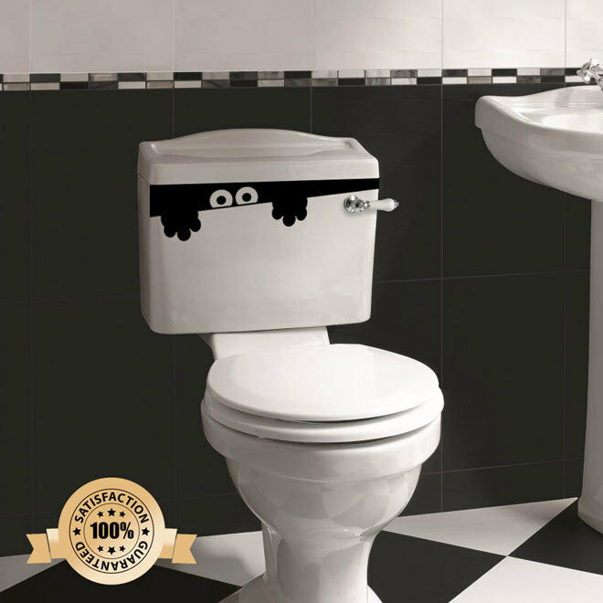 Toilet Monster Bathroom Decal Funny Vinyl Sticker Wall Art