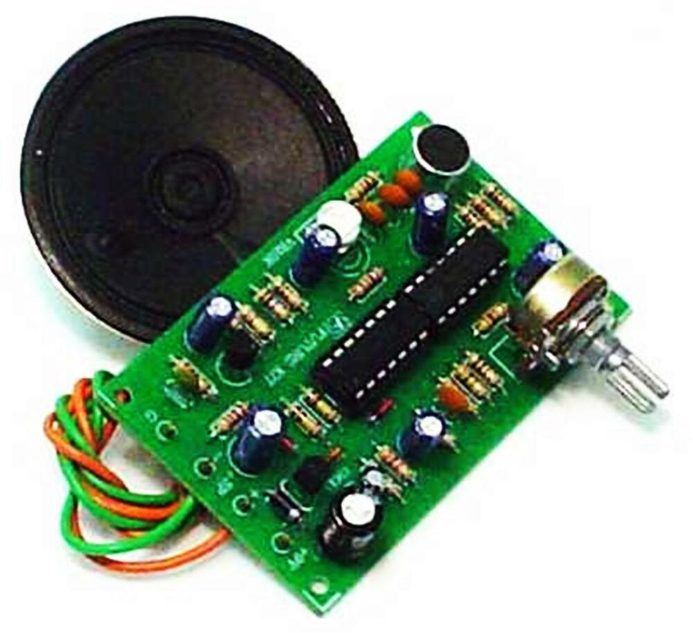 Human To Robot Voice Changer With Speaker Circuit Board Un Assembled