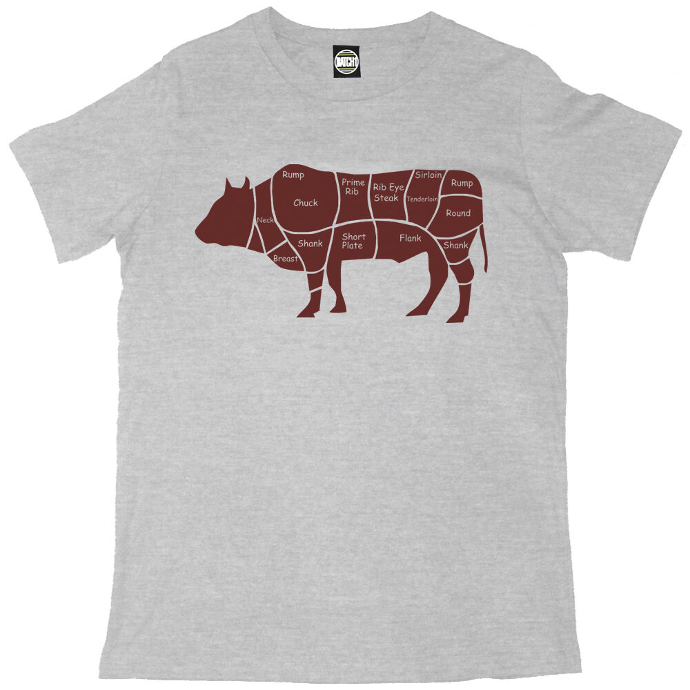 cow butcher diagram of a s hybrid engine diagram of mclaren s cuts of beef cow diagram mens printed chefs t shirt ebay #10