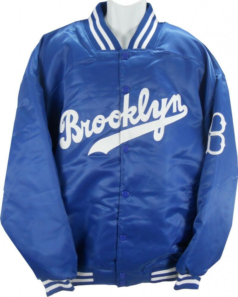 Brooklyn Dodgers MLB Licensed Majestic Cooperstown Satin ...