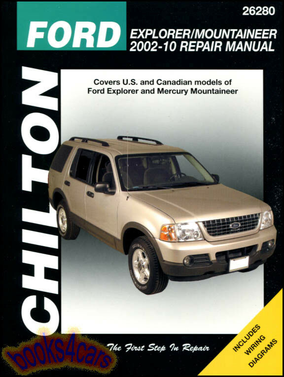 ford explorer mercury mountaineer shop manual chilton. Black Bedroom Furniture Sets. Home Design Ideas