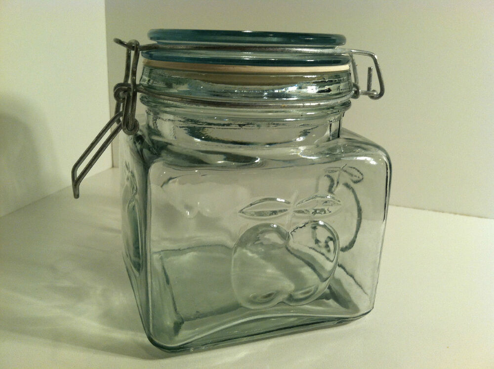 glass kitchen storage canisters clear glass embossed apple decorative kitchen storage 3799