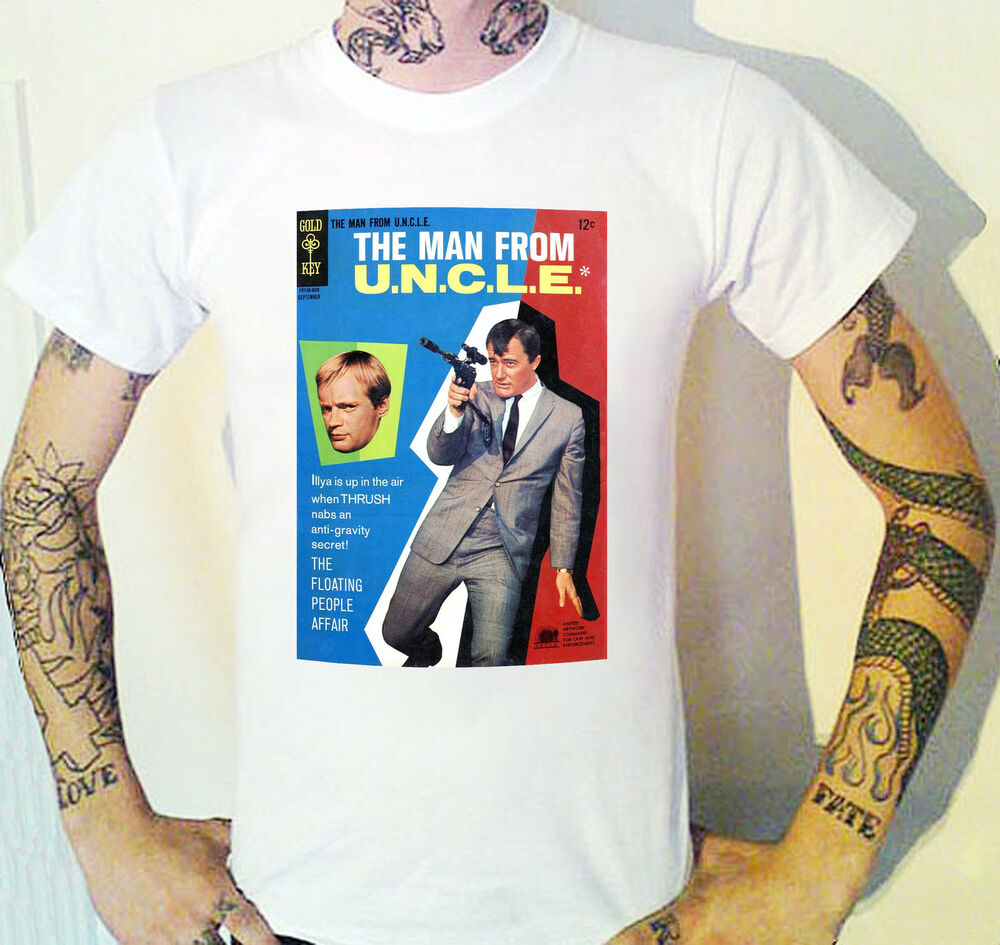 Vintage Book Cover Shirts : Man from uncle vintage book cover t shirt robert vaughn