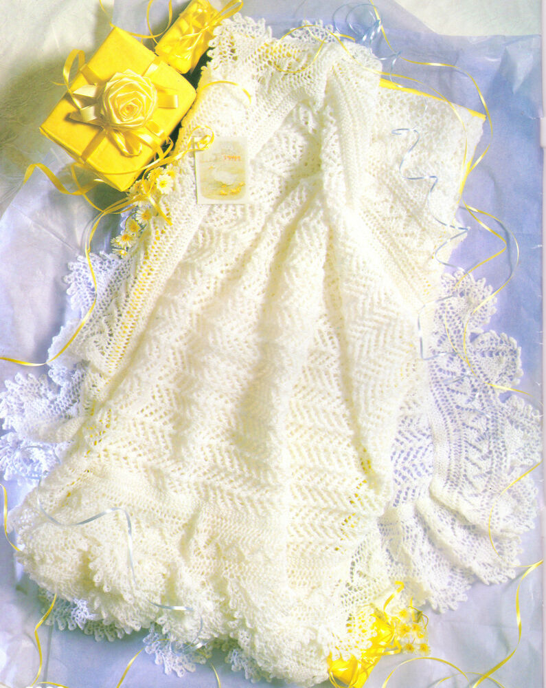 Delicate Lacy Baby Shawl 2 ply~ 50