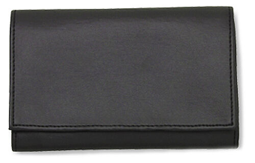 Black Vinyl Pipe Tobacco Roll Up Pouch W Surgical Rubber