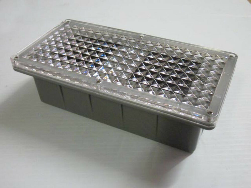 Solar powered LED Brick Paver Landscape Light - walks, driveway, patio : eBay