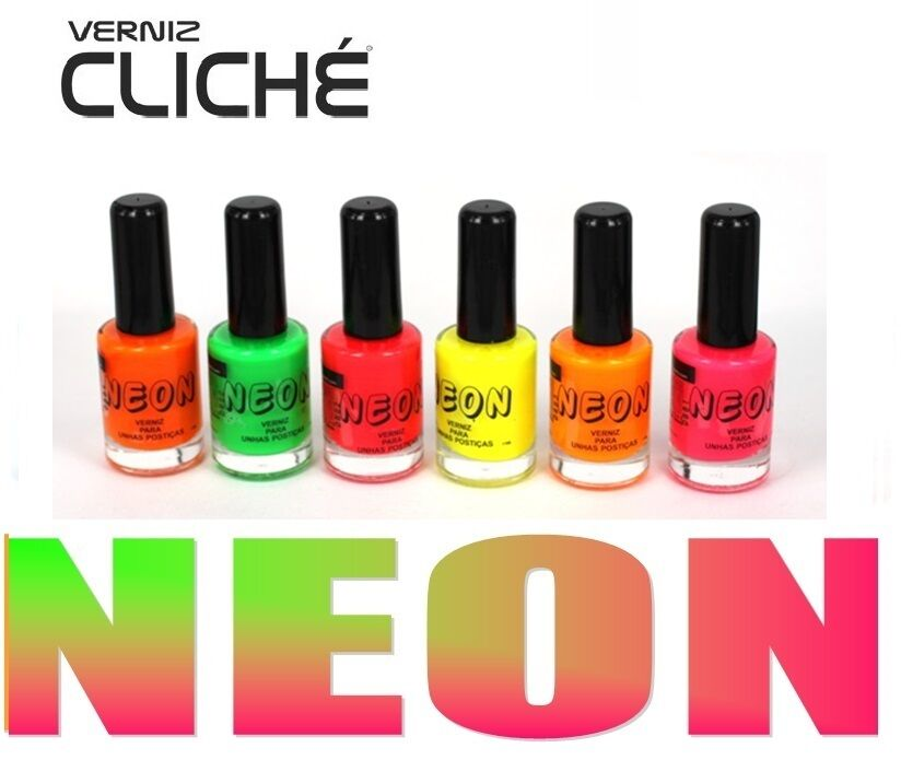 Fluorescent Neon Pink Nail Polish: LOT OF 6 COLORS New Fluorescent Neon Colors Nail Art