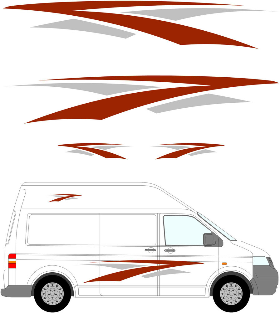 88 camper van graphics motor home vinyl graphics kit for Decals for rv mural