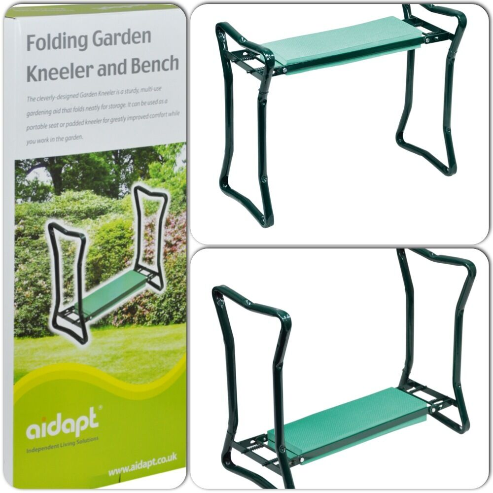 Folding Portable Outdoor Garden Gardening Kneeler And Bench Chair Stool Seat Aid Ebay