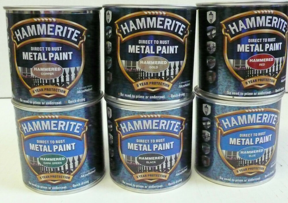 Hammerite Hammered Metal Paint 250ml All Colours Available ...