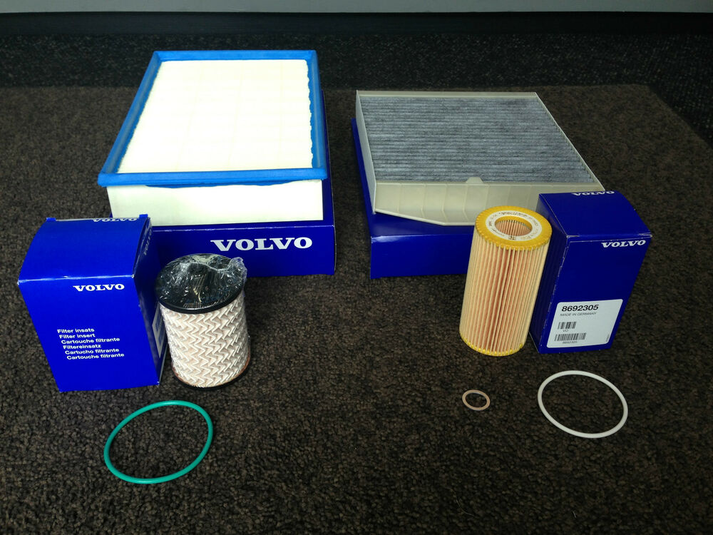 genuine volvo d5 diesel service kit oil air fuel cabin filter v70 s60 xc90 s80 ebay. Black Bedroom Furniture Sets. Home Design Ideas