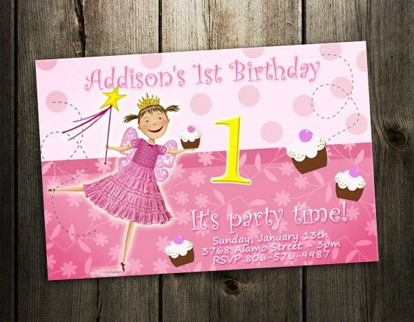 PINKALICIOUS BIRTHDAY PARTY INVITATION CARD CUSTOM INVITE