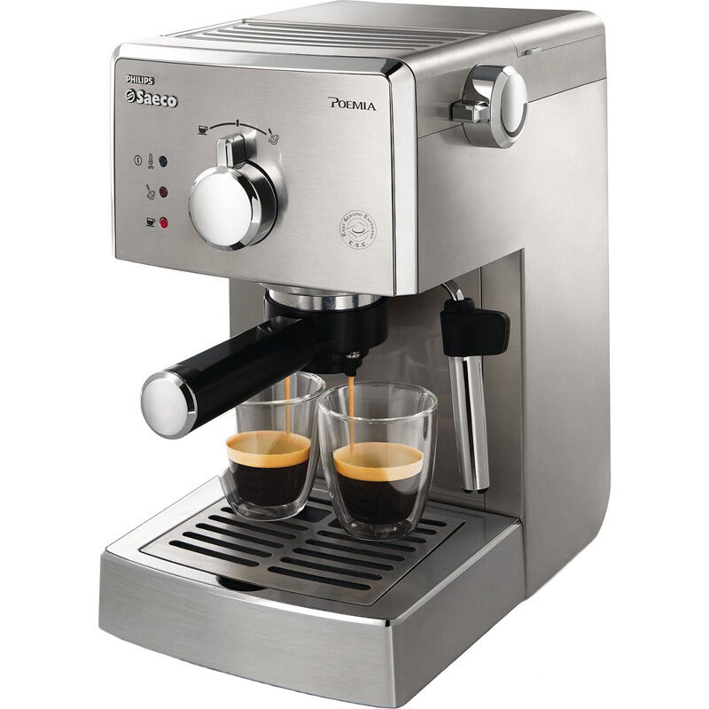 authentic italian stainless steel espresso machine coffee. Black Bedroom Furniture Sets. Home Design Ideas