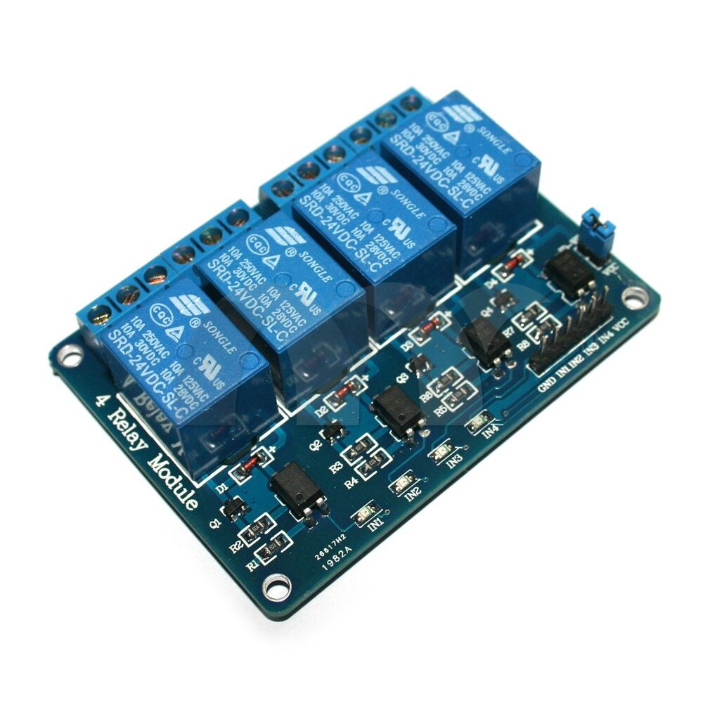 Channel v relay module with optocoupler for arduino