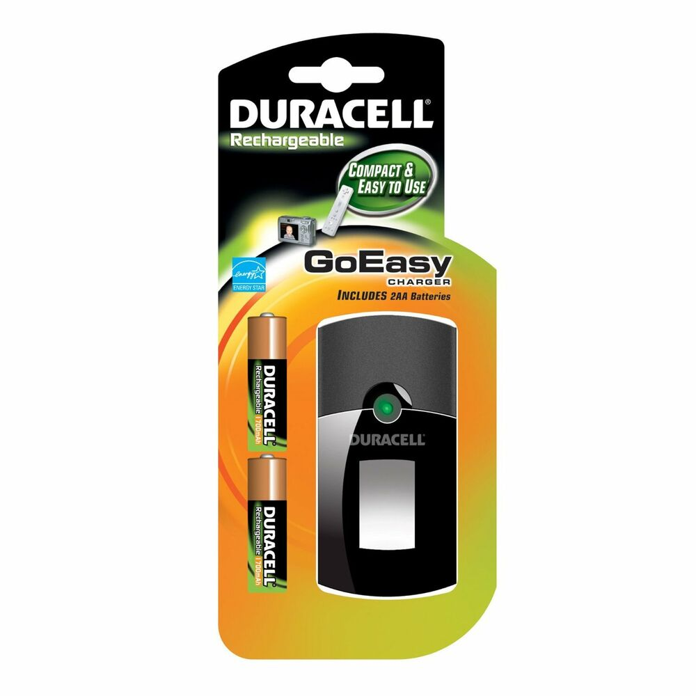 new duracell rechargeable goeasy charger sealed in package. Black Bedroom Furniture Sets. Home Design Ideas