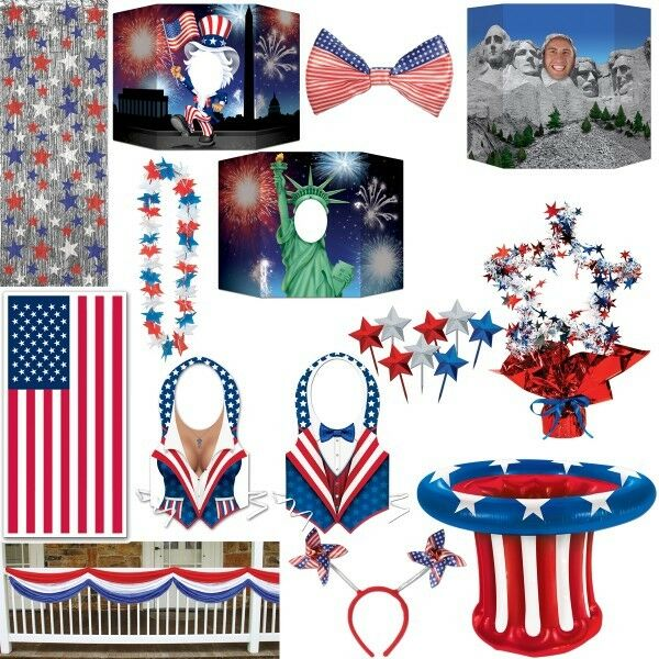 amerikanische dekoration usa motto party deko new york rot blau weiss amerika ebay. Black Bedroom Furniture Sets. Home Design Ideas