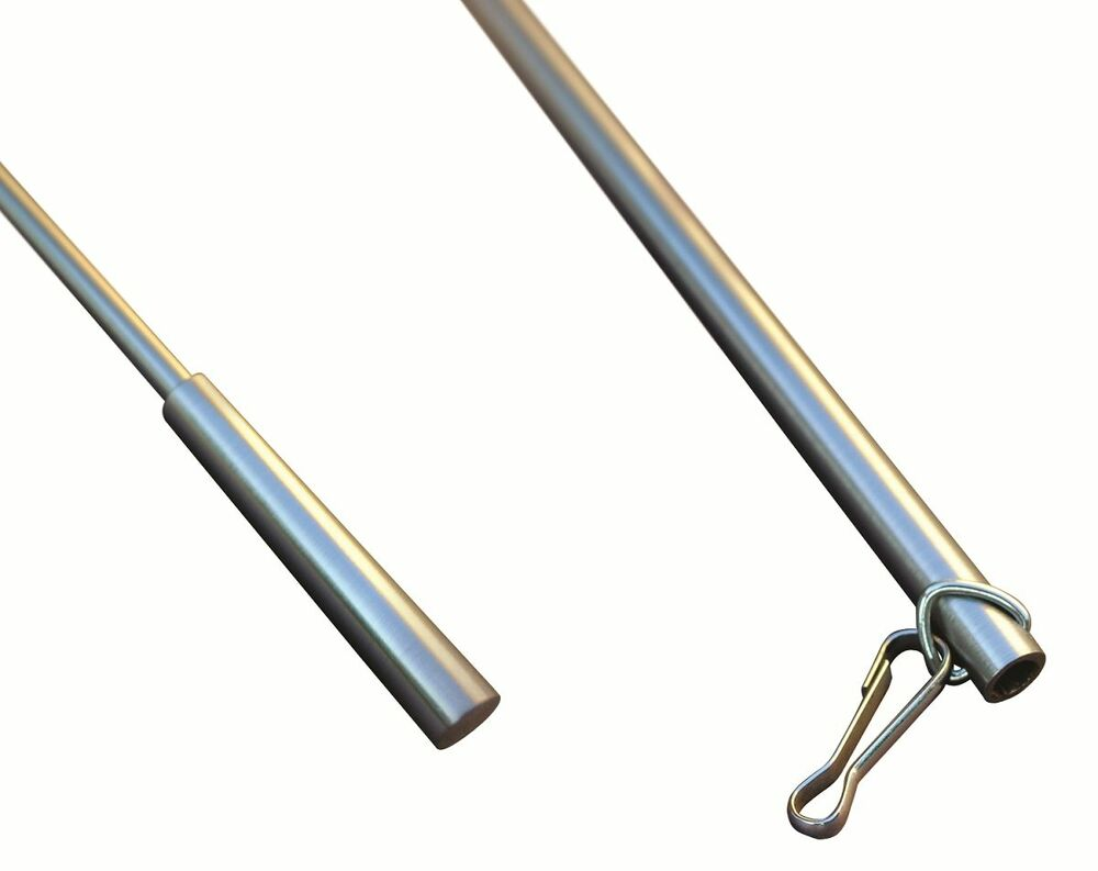 Stainless Steel Look Curtain Collection Drapery Hardware Baton 30mm Ebay