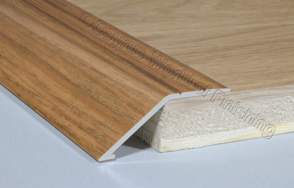 Self Adhesive Aluminium Wood Effect Door Floor Edge Trim